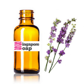 Pure Lavender Essential Oil with Amber Glass Bottle