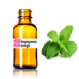 Pure Peppermint Essential Oil with Amber Glass Bottle