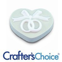 Crafters Choice™ Heart with Wedding Rings Soap Mold (CC 169)