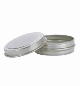 Empty Aluminium Lip Balm Tins (Round)