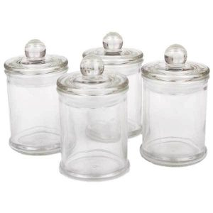 French Apothecary Glass Jar with Lid