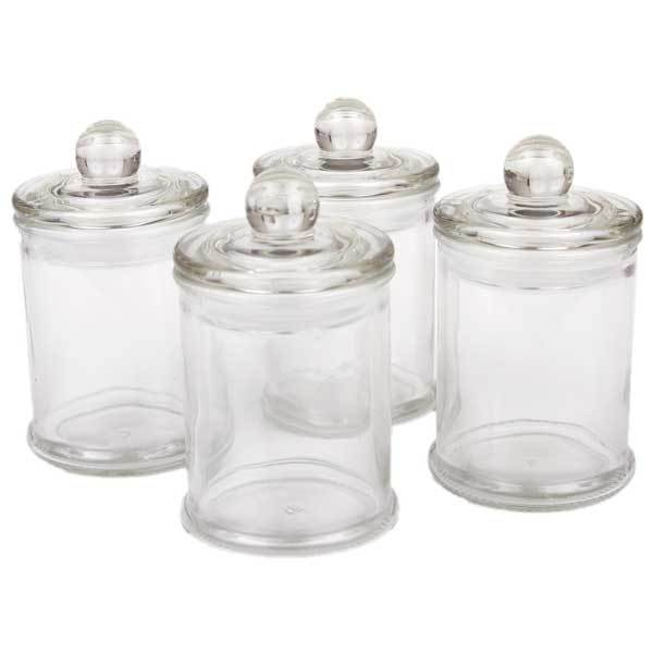 french apothecary glass jar with lid mini singapore soap supplies. Black Bedroom Furniture Sets. Home Design Ideas