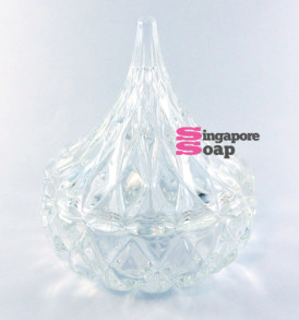 Hersey Kiss Shaped Glass Jar Dish