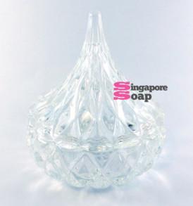 Hersey Kiss Shaped Glass Jar Dish