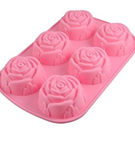 6 Rose Cavity Silicone Mold