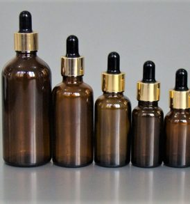 50ml Amber Glass Bottle with Glass Eye Dropper with golden cap (1.698 Oz) 2