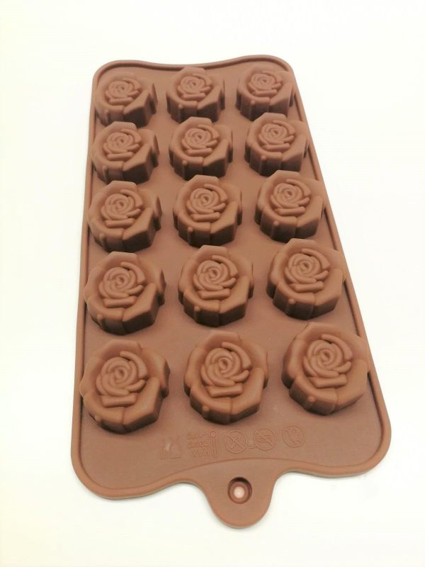 15 Cavity Rose silicon mold