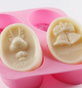 Christmas set Silicon soap Mold