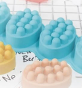 4 Cavity Massge Soap Mold